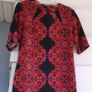 Taylor Black/Pink Knit sheath Dress Wrinkle free